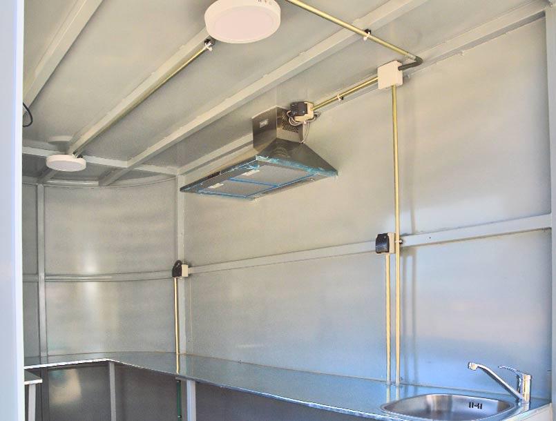 Instalación interior food truck