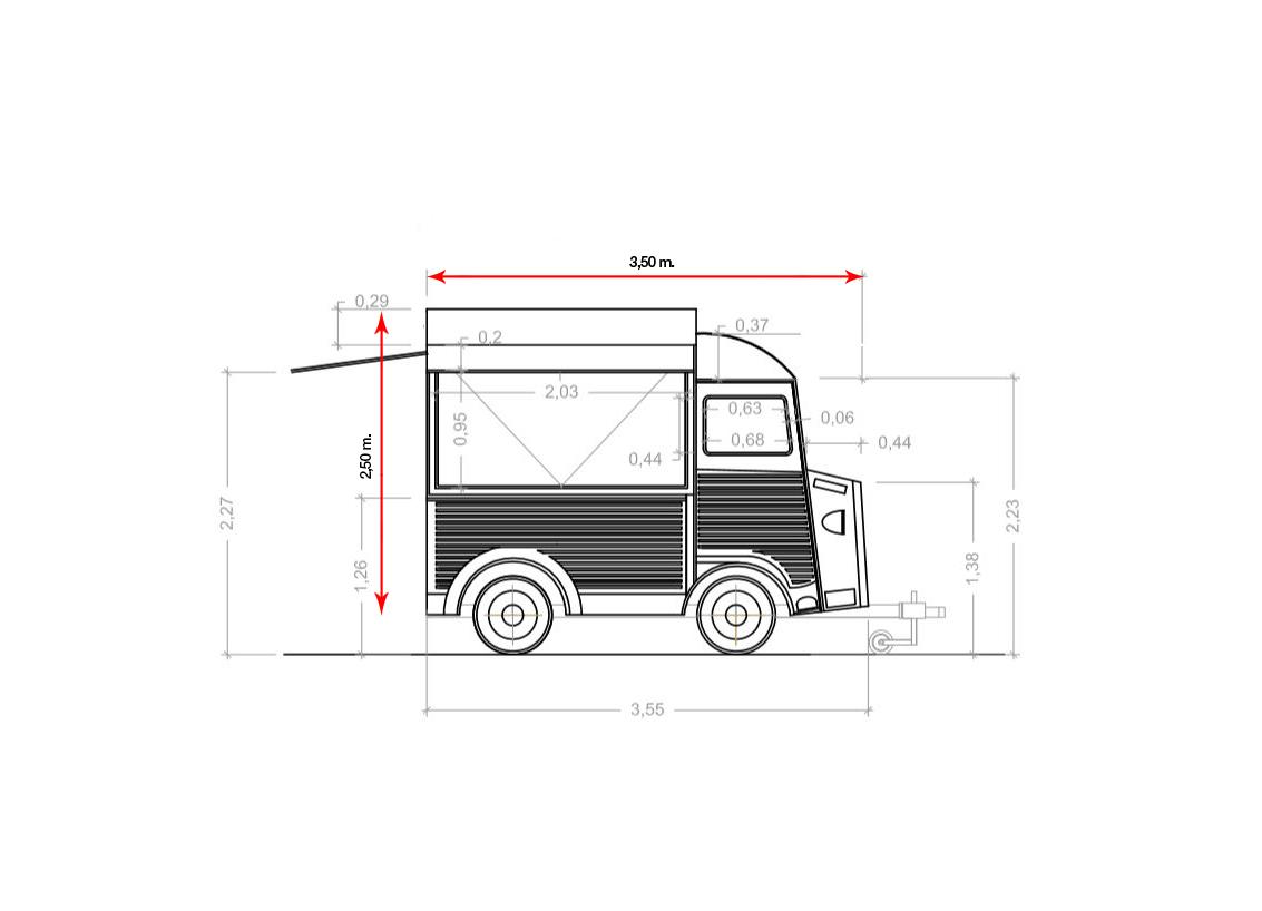 plano furgoneta LT