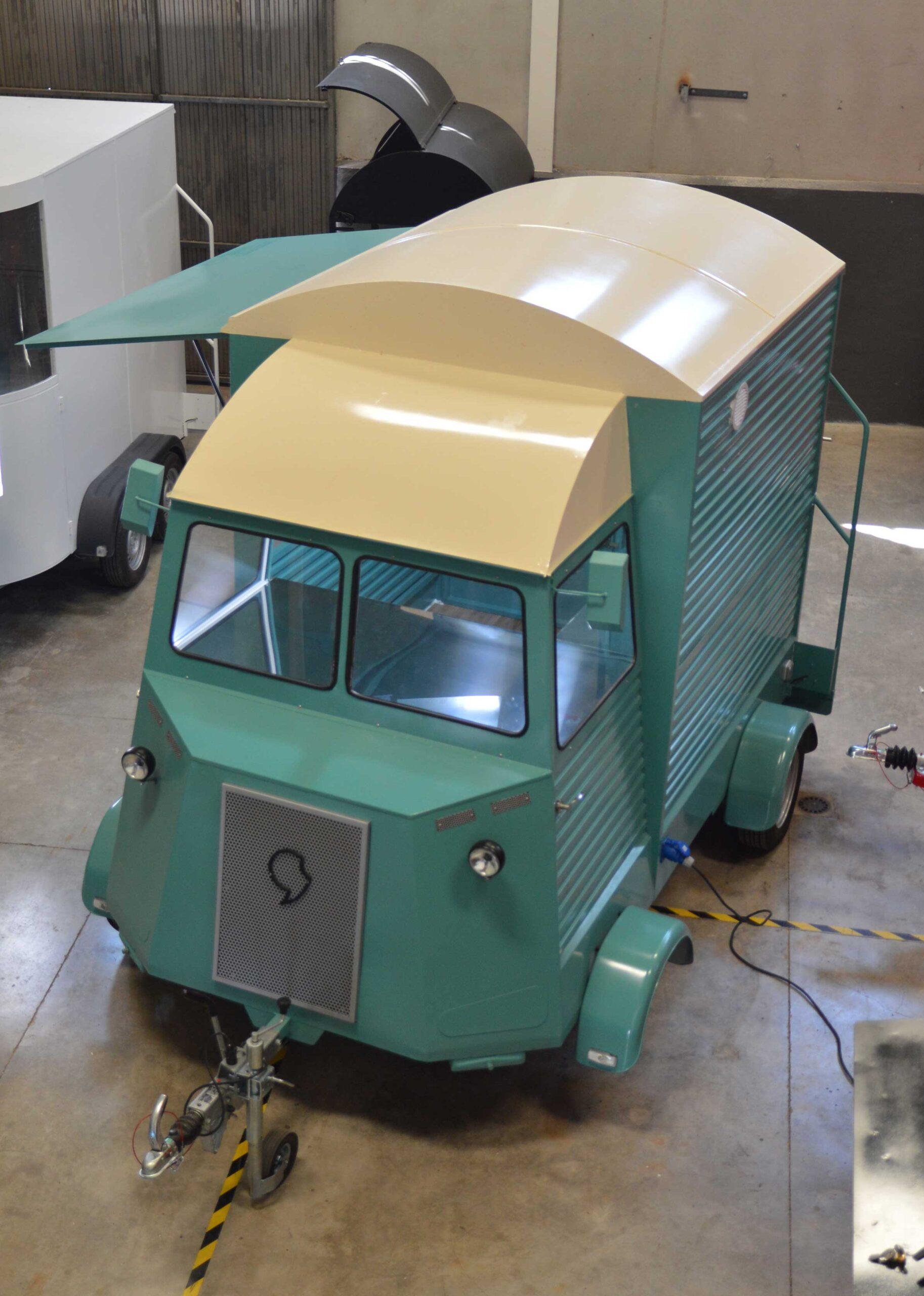 Vista superior Food Truck