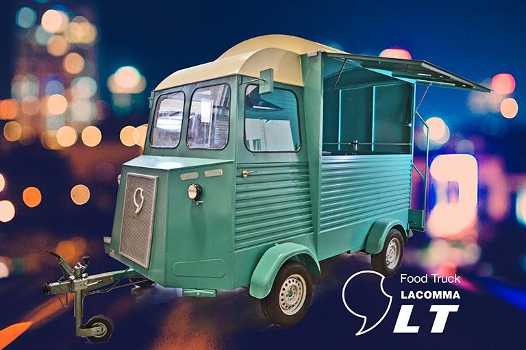 Furgoneta antigua food truck